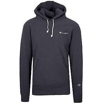 Champion Champion Reverse Weave Navy Blue Hooded Sweatshirt