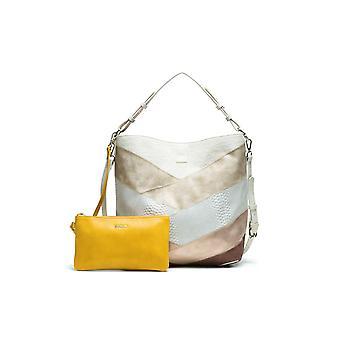Desigual kvinde ' s reversible beige Tantra Gijon shopper & Messenger taske