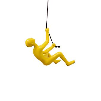 "6"" x 3"" x 3"" Resin Yellow Climbing Man"