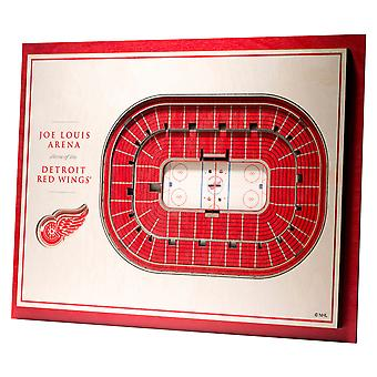 YouTheFan Wood Wall decoration stadium Detroit Red Wings 43x33cm