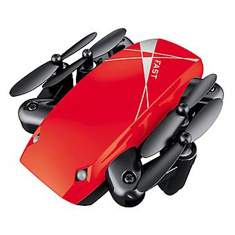 Stuff Certified ® S9W Mini RC Pocket Drone Quadcopter Toy with Gyro Stabilization Red