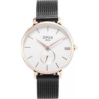 Opex OPW041 Watch - ROTONDE Black Steel Bracelet Box Steel Dor Pink Women