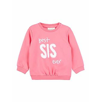 Nom-It Pink Girls Sweater Best Sis Ever