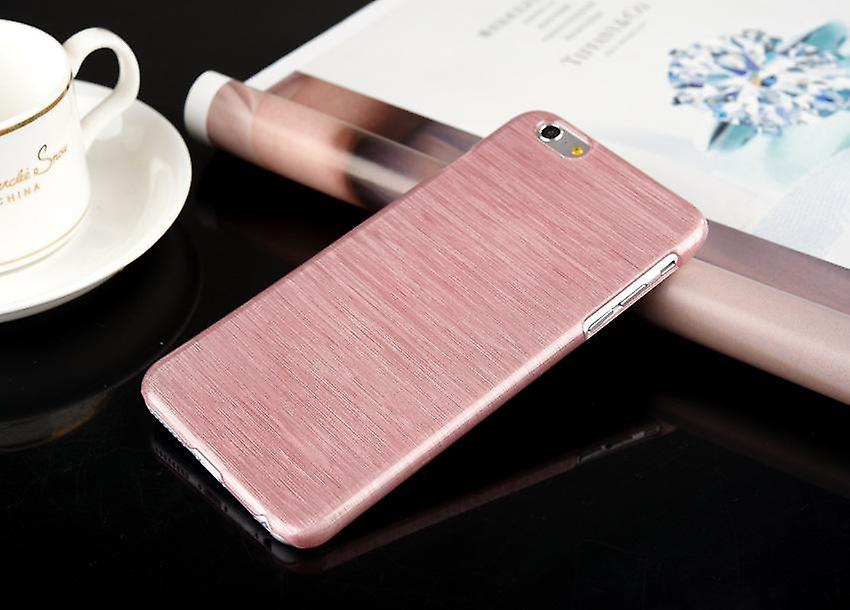 Mobile shell brushed aluminum Iphone plastic Pink