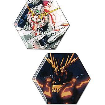 Pin set-Gundam UC-nieuwe Unicorn & Banshee (set van 2) speelgoed gelicentieerd ge50551