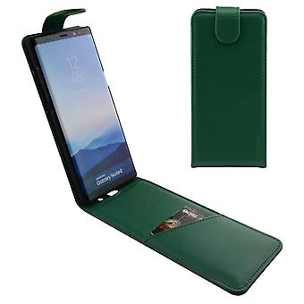For Samsung Galaxy Note 8 Case,iCL Vertical Flip Genuine Leather Cover,Green