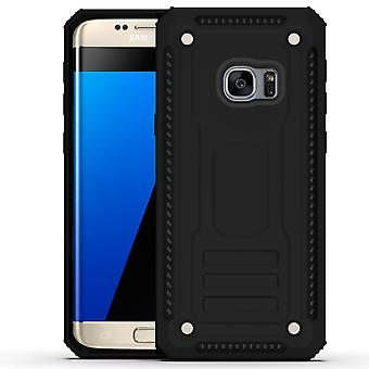 For Samsung Galaxy S7 Case, Armour Strong Shockproof Thin Tough Cover, Black