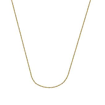 10k Yellow Gold 1.2mm Light Weight Rope Chain Necklace 5.5mm Spring Ring Closure Jewelry Gifts for Women - Longueur: 16 à