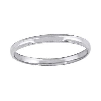 10k Beyaz Altın Erkek Kadın Unisex Düğün Bandı Regular Fit Erkekler için 2mm Takı Hediyeler - Yüzük Boyutu: 5-13