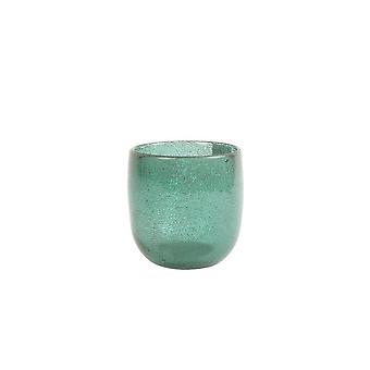 Light & Living Tealight 10.5x11cm - Tathra Effect Glass Green