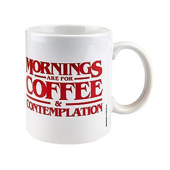 Stranger Things, Mug - Mornings are for coffee