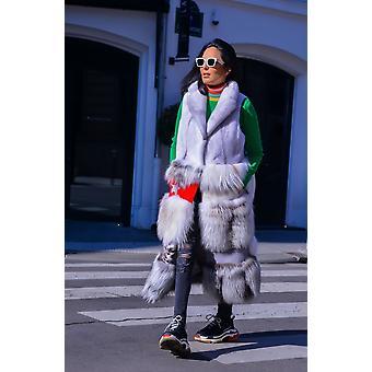 Hvid frakke Sam-rone Kvinde SA1902