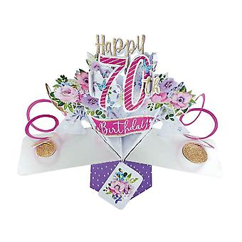 Second Nature Pop Up Flowers 3d 70th Birthday Card Pop195