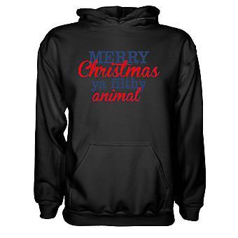 Herre Sweatshirts Hættetrøje-Glædelig jul Du Beskidte Animal