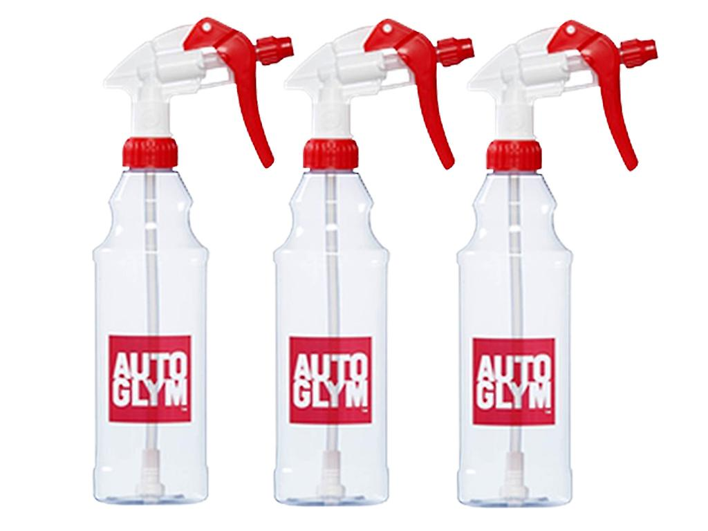 Autoglym Pump Spray Bottle with 4 Finger Trigger for Car Detergent and Cleaning Fluids in Pack of 3