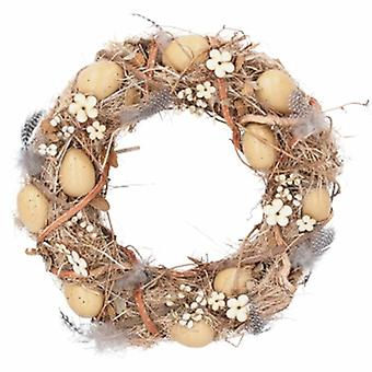 Twig and Feather speckled Egg Easter Wreath | Handpicked gifts