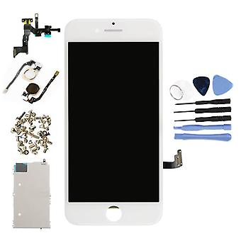 Stuff Certified® iPhone 7 Pre-assembled Screen (Touchscreen + LCD + Parts) AAA + Quality - White + Tools