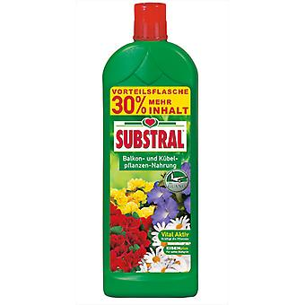SUBSTRAL® Balcony & Potted plants Food with guano, 1.3 liters