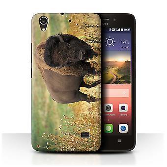 STUFF4 Fall/Abdeckung für Huawei Ascend G620S/Bison/Nordamerika Tiere