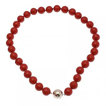 Nour London Pearl Effect Magnetic Fastener Necklace