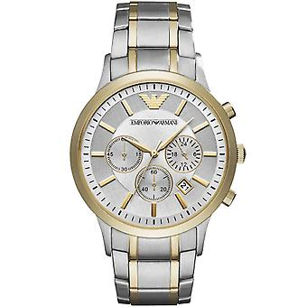 Armani Watches Ar11076 Silver & Gold Mens Stainless Steel Watch
