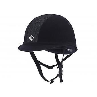 Charles Owen Yr8 Round Riding Hat - Navy/navy Sparkle