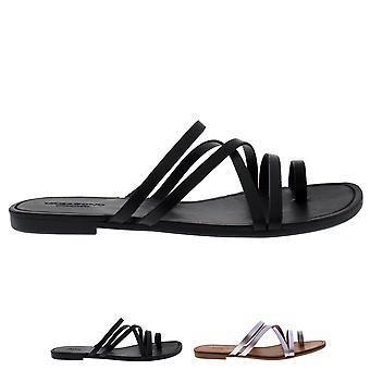 Womens Vagabond Tia Slingback Leather Black Open Toe Fashion Sandals