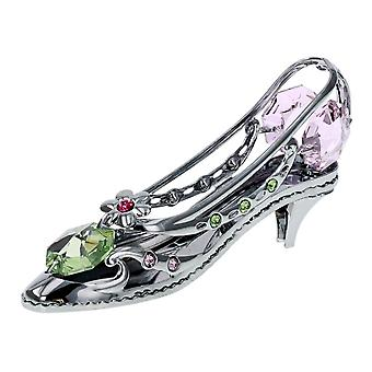 CRYSTOCRAFT High Heeled Shoe Made With Swarovski Crystals