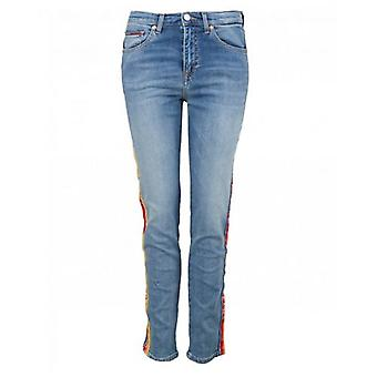 Tommy Jeans Hig Rise Slim Izzy Rainbow Trim Jeans