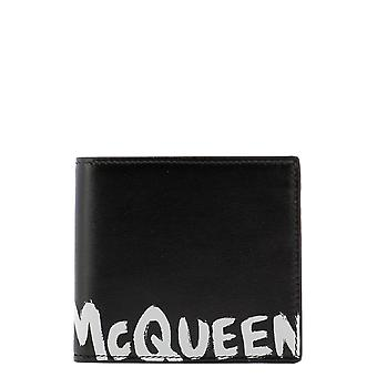 Alexander Mcqueen 6021391nt0b1070 Men's Black Leather Wallet