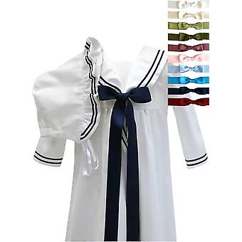 Christening Gown In Sailor Style With Bonnet And 10 Choices Of Bow, Grace Of Sweden