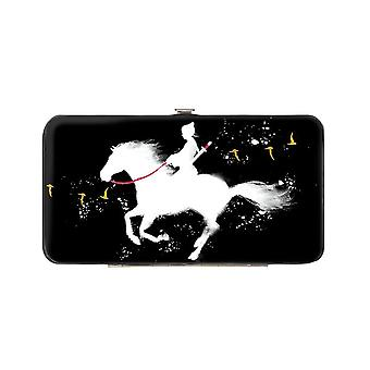Disney Mulan Horse Silhouette Black Hinged Clutch Purse