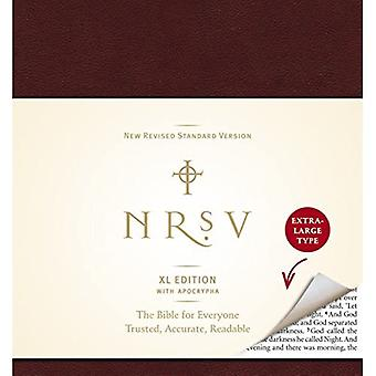Holy Bible: New Revised Standard Version, Burgundy, XL Edition, With Apocrypha