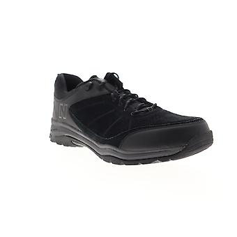 New Balance 1201  Mens Black Suede Lace Up Athletic Walking Shoes