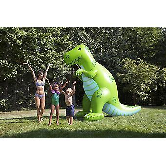 ממטרה המים דינו 2m גבוהה מתנפחים הירוק T-Rex דינוזאור ממטרה דינו עם חיבור צינור