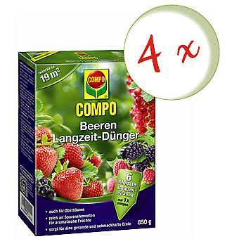 Sparset: 4 x COMPO berries long-term fertilizer, 850 g