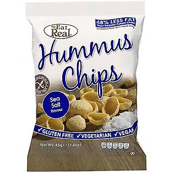 Ät Real Hummus Sea Salt Chips - 12 Pack x 45gr