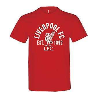 Liverpool FC Established 1982 Mens Football Soccer T-Shirt Tee Red