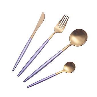تعيين الكلاسيكية مطعم الفولاذ المقاوم للصدأ مطبخ المطبخ تناول الطعام العشاء Tablew