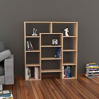 Libreria Passage Color Noce in Truciolare Melaminico 123x24x135 cm