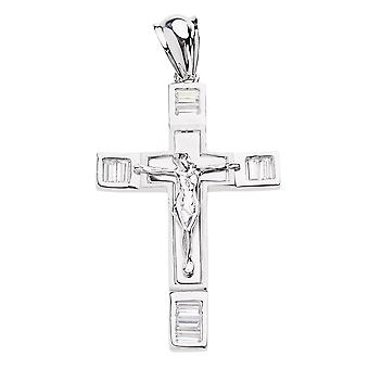 925 iced out sterling silver cross - BLISS