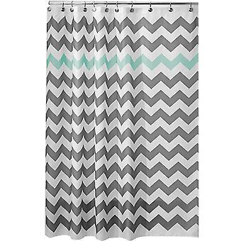 Волнистая полосатая занавеска для душа Прочная водонепроницаемая ткань с 12 крючками 180x180cm