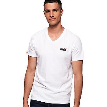 Superdry Mens Orange Label Vintage Embroidered Vee T Shirt