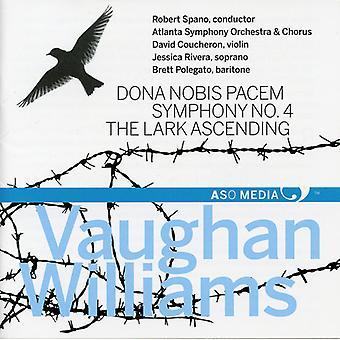 ヴォーン/アトランタ Sym 管弦楽・合唱/スパーノ - Dona Nobis Pacem Sym 4 ・ ラーク昇順 [CD] USA 輸入