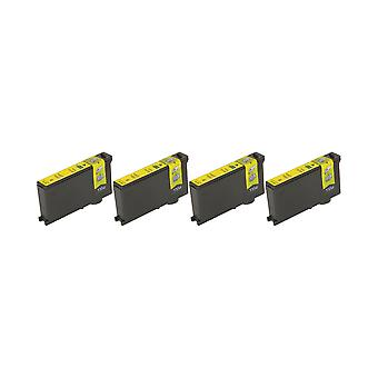 RudyTwos 4x Replacement for Lexmark 100XL Ink Unit Yellow Compatible with Impact S300, S301, S302, S305, S308, Interact S601, S602, S605, S606, S608, Interpret S402, S405, S408, S409, Intuition S502,