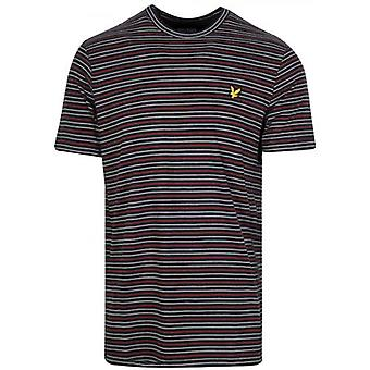 Lyle & Scott Black Fine Stripe T-Shirt