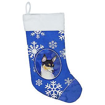 Carolineøerne skatte SS4656-CS Chihuahua vinter snefnug Christmas strømpe SS