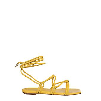 Gia Couture Bellaa330 Women's Yellow Leather Sandals