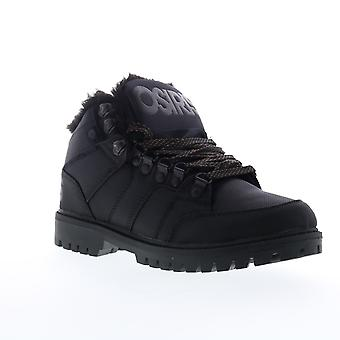 Osiris Convoy Boot  Mens Black Canvas Lace Up Athletic Skate Shoes