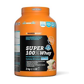 Super 100% whey 2 kg of powder (Strawberry - Chocolate)